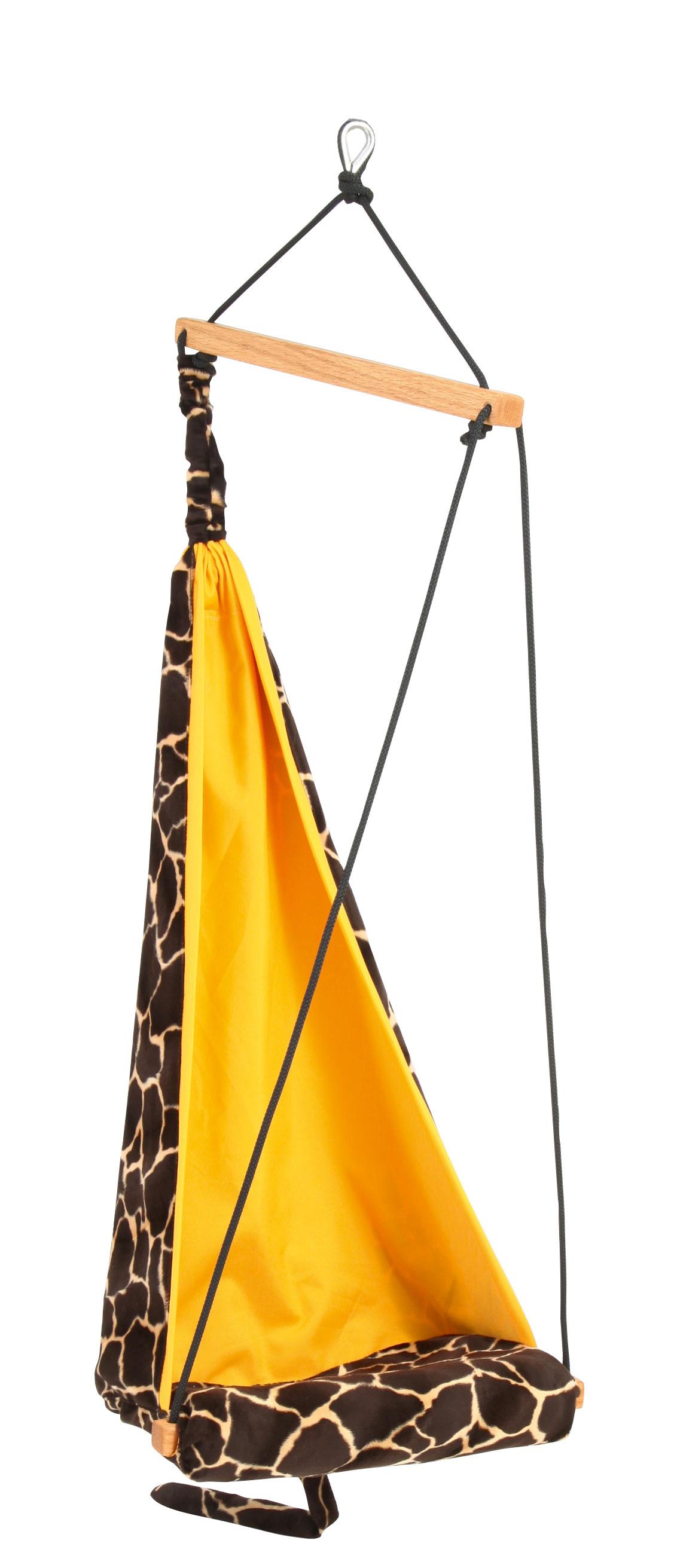 Kinderhangstoel 'Hang Mini' Giraffe - Geel - Amazonas