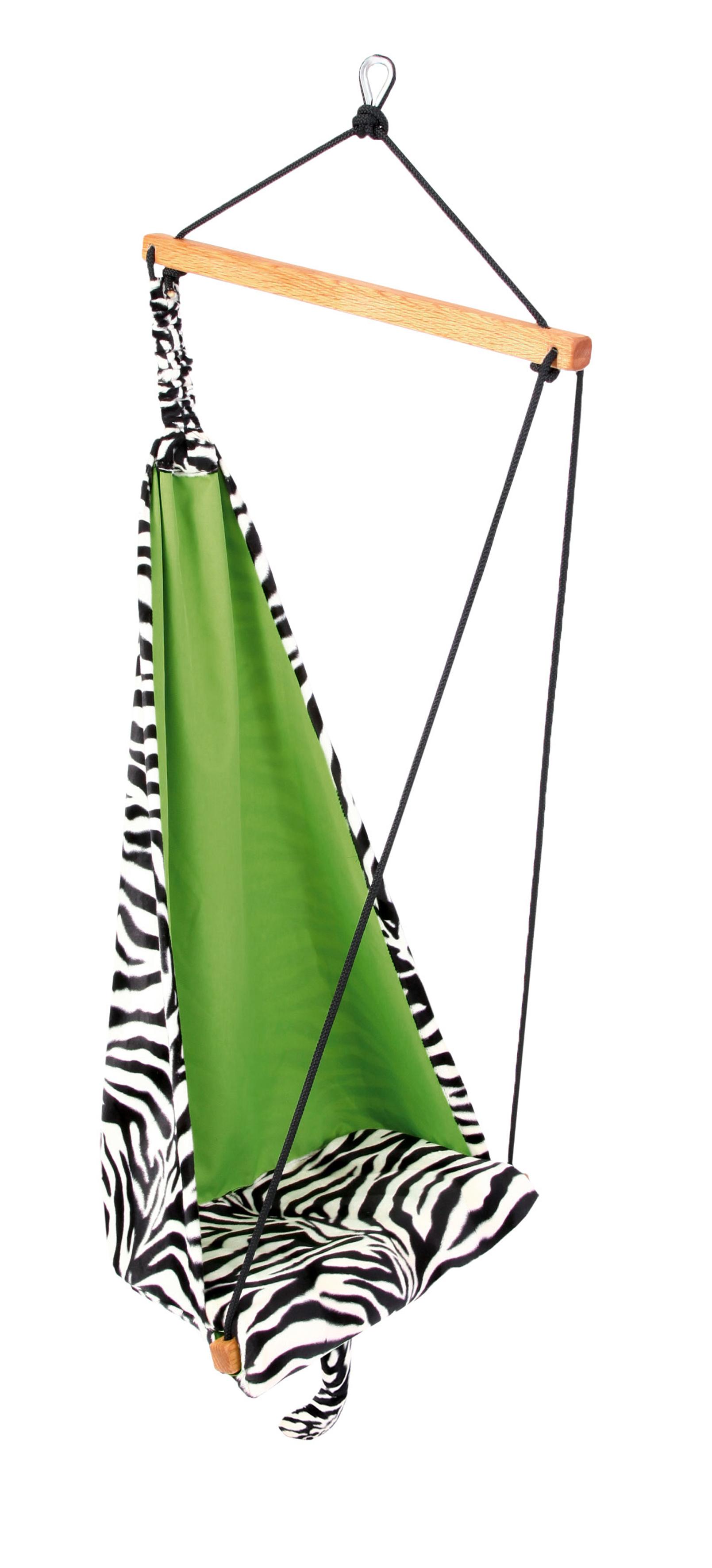 Kinderhangstoel 'Hang Mini' Zebra - Groen - Amazonas