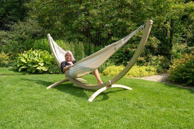 Hangmat met Standaard Tweepersoons 'Wood & Comfort' White