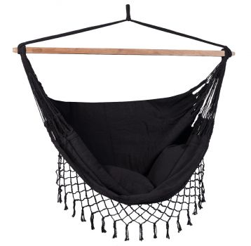 Hangstoel Tweepersoons 'DeLuxe' Black