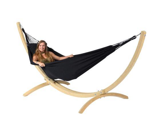 Hangmat met Standaard Eénpersoons 'Wood & Classic' Black