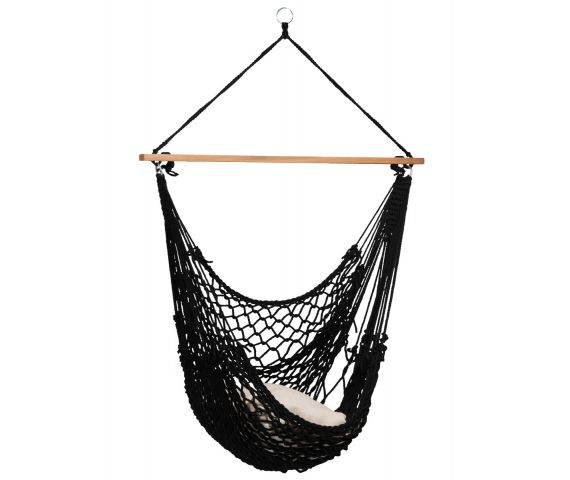Hangstoel Eénpersoons 'Rope' Black