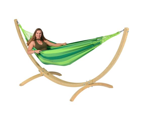 Hangmat met Standaard Eénpersoons 'Wood & Dream' Green