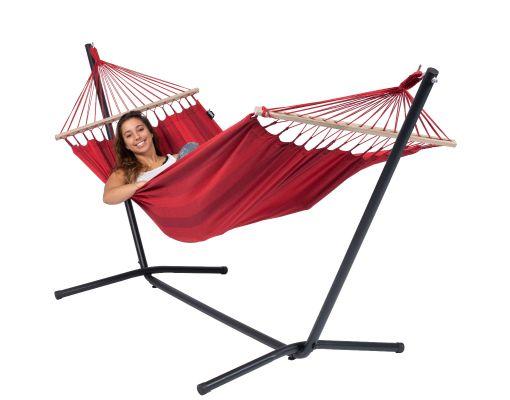 Hangmat met Standaard Eénpersoons 'Easy & Relax' Red
