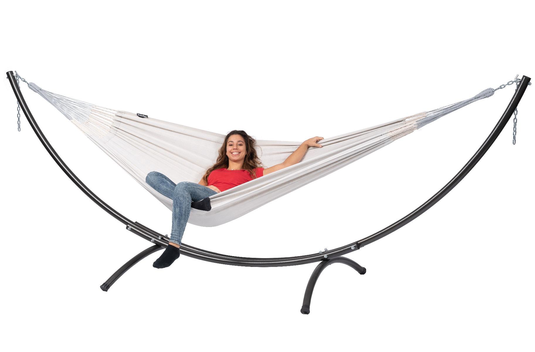 Hangmat met Standaard Tweepersoons 'Arc & Comfort' Pearl