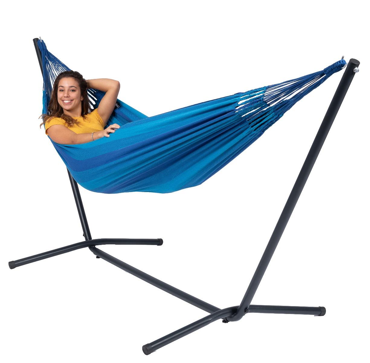 Hangmat met Standaard E�npersoons 'Easy & Dream' Blue - Blauw - Tropilex �