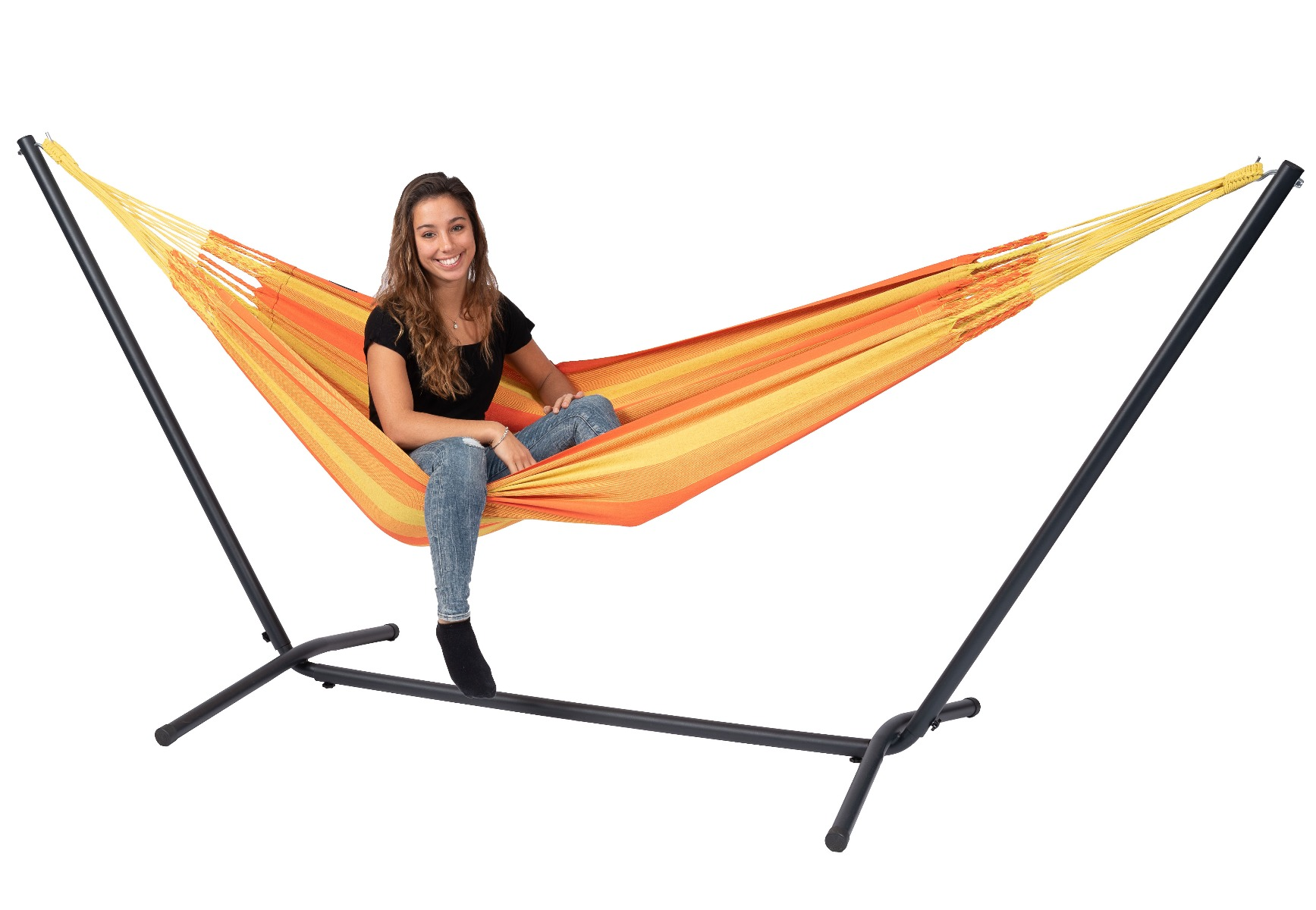 Hangmat met Standaard E�npersoons 'Easy & Dream' Orange - Oranje - Tropilex �