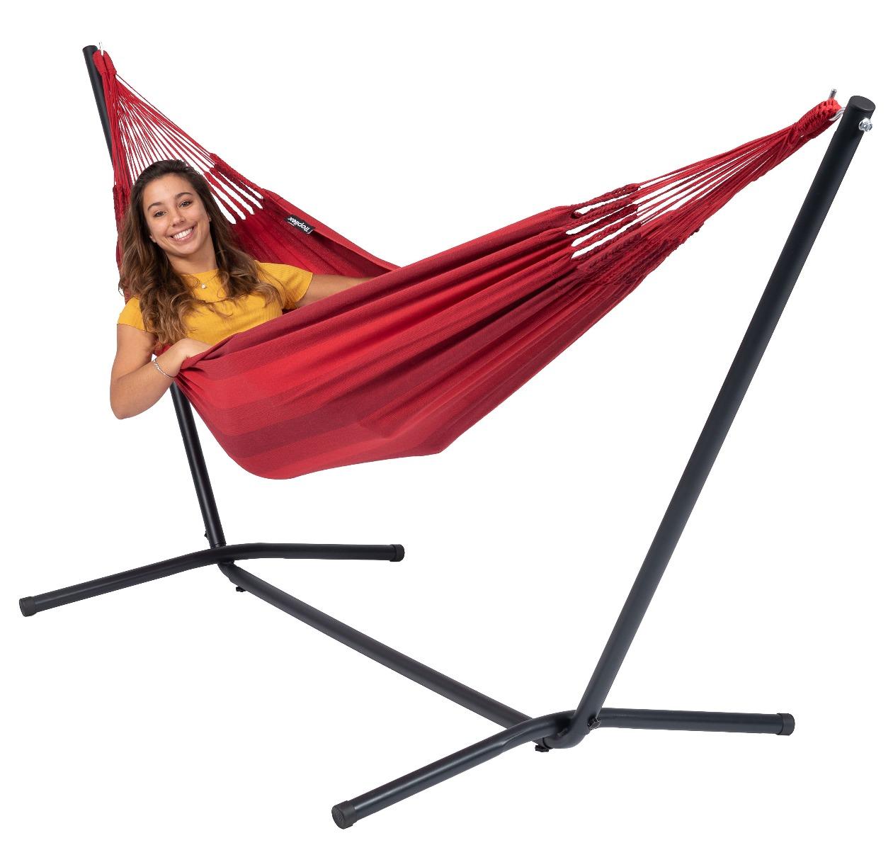 Hangmat met Standaard E�npersoons 'Easy & Dream' Red - Rood - Tropilex �