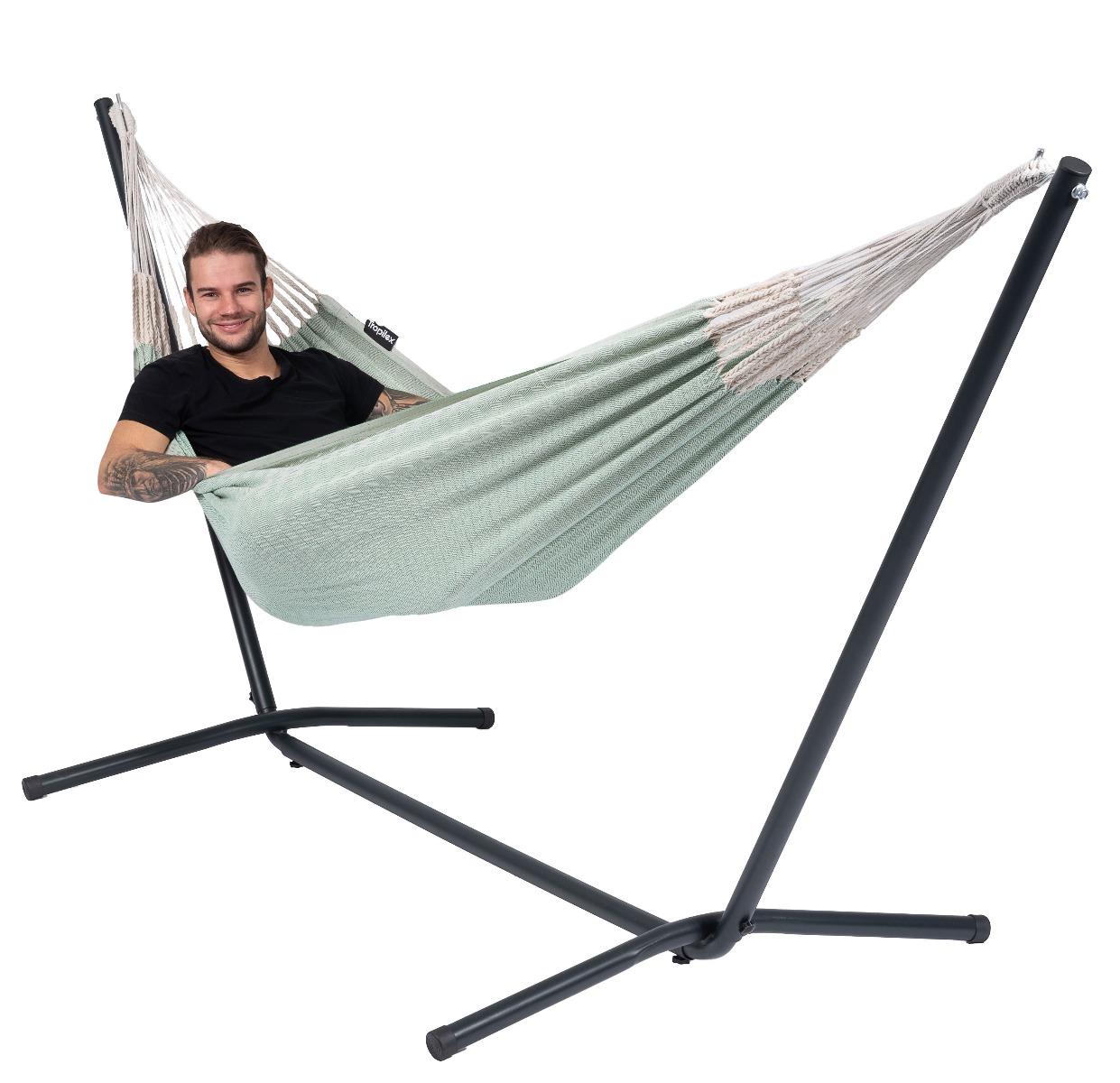 Hangmat met Standaard Eénpersoons 'Easy & Natural' Green