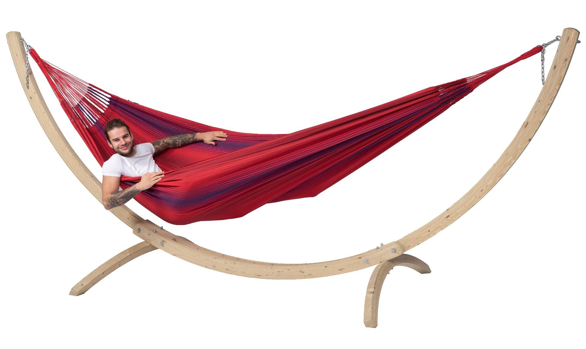 Hangmat met Standaard Familie 'Wood & Refresh' Bordeaux