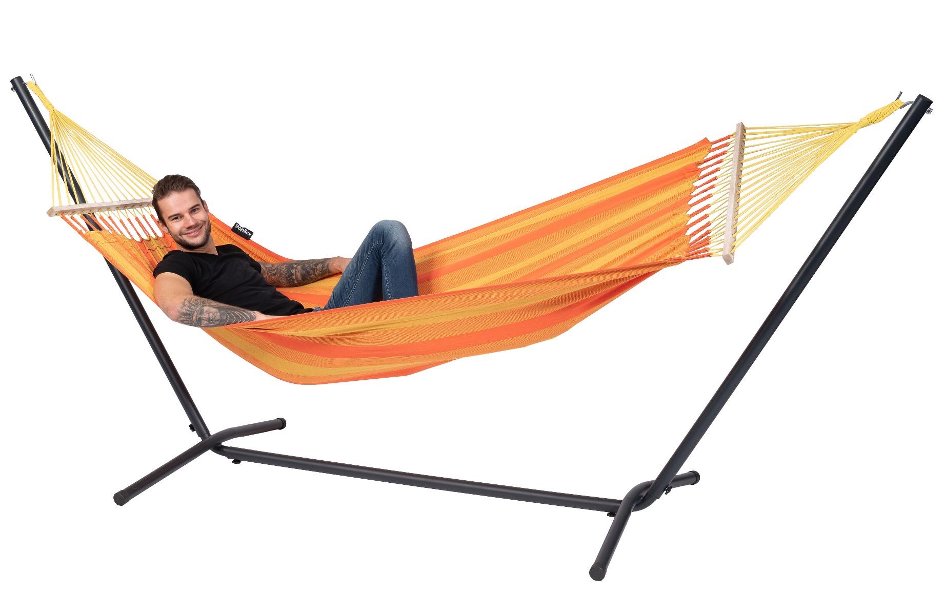 Hangmat met Standaard Eénpersoons 'Easy & Relax' Orange