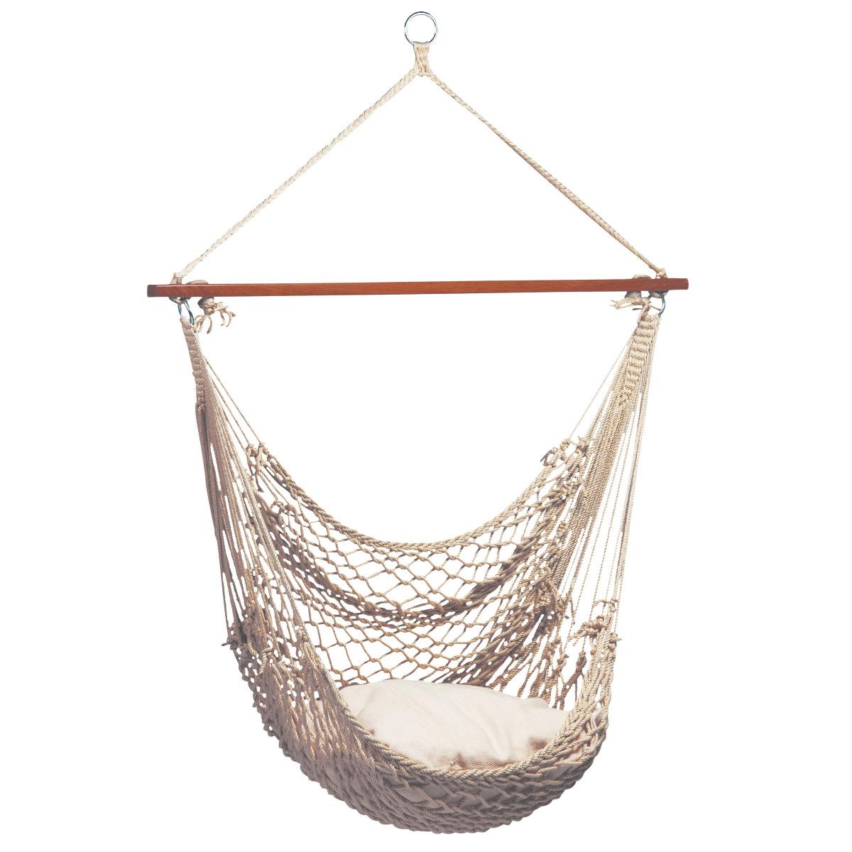 Hangstoel Eénpersoons 'Rope' Natura - Wit - Ecru - Tropilex ®