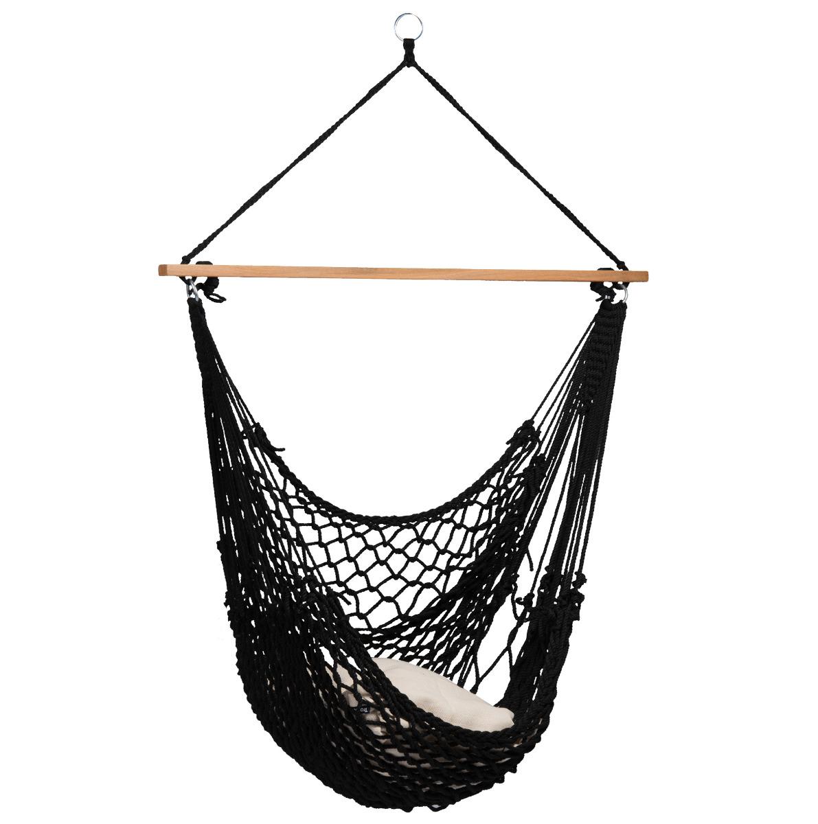 Hangstoel E�npersoons 'Rope' Black - Zwart - Tropilex �