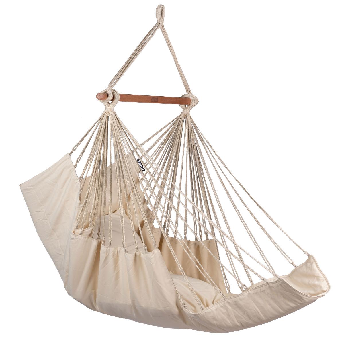 Hangstoel E�npersoons 'Sereno' White - Wit - Ecru - Tropilex �