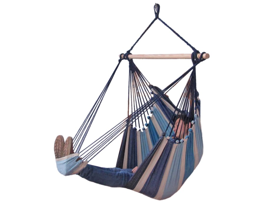Hangstoel E�npersoons 'Tropical' Sea Lounge - Blauw - 123 Hammock