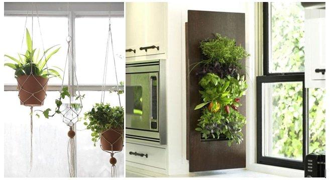 Interieurtrends 2016 Verticale kruidentuin en hangende planten macramé